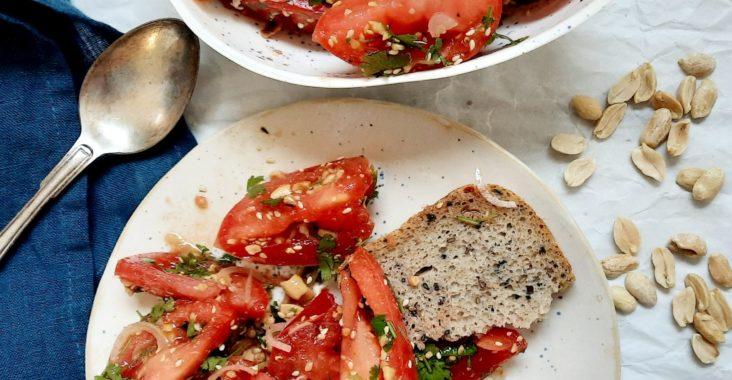 przepis na sałatkę pomidorową